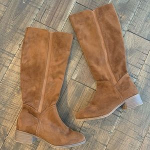 Universal Thread suede cognac knee high boots